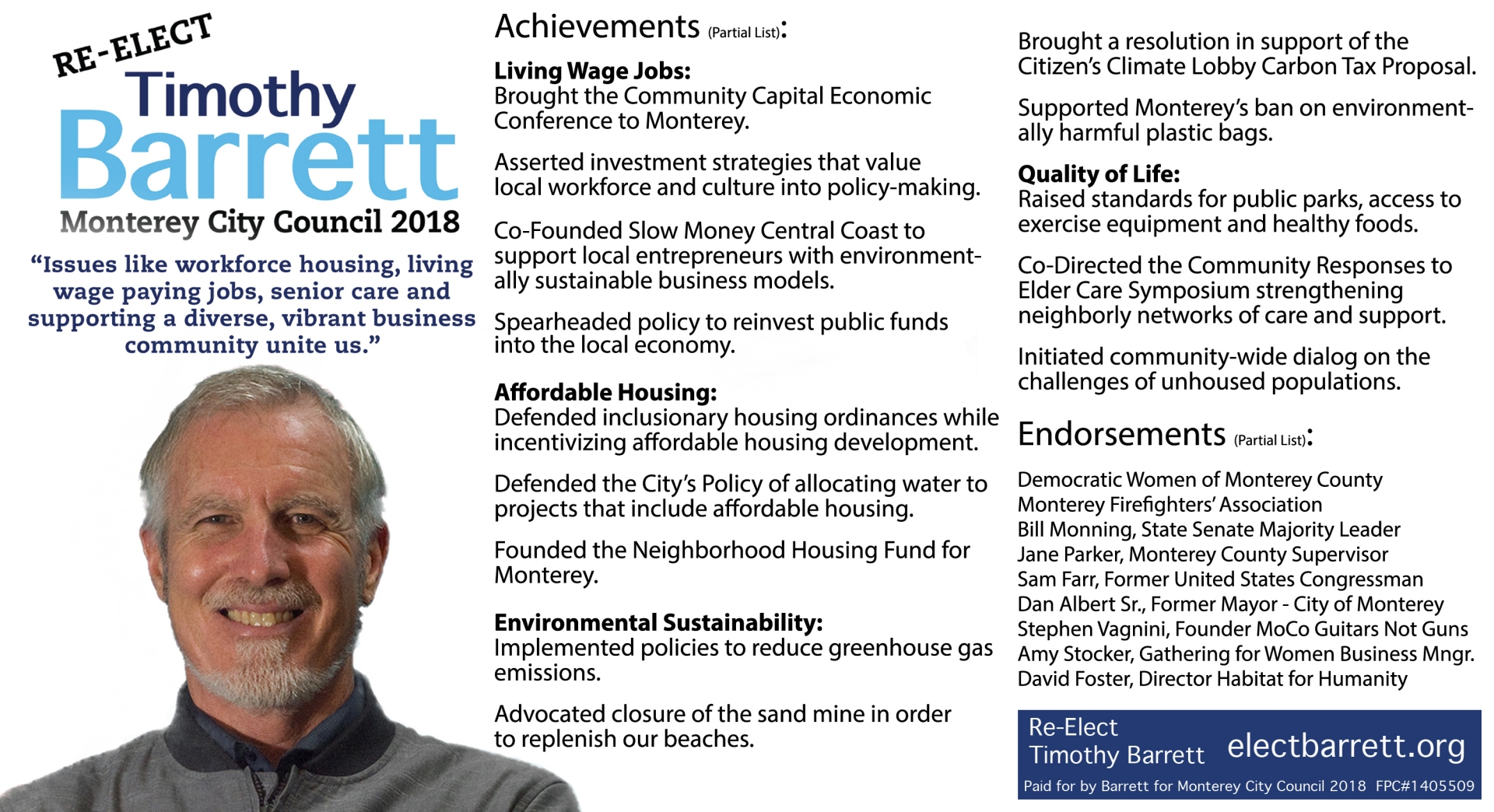 Timothy Barrett Achievements